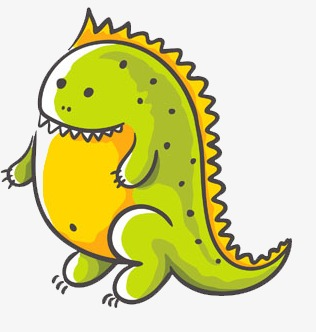 Dinosaur clipart fat. Chubby light green cartoon