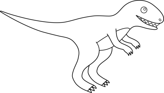 Trex clipart vector. Free dinosaur outline download