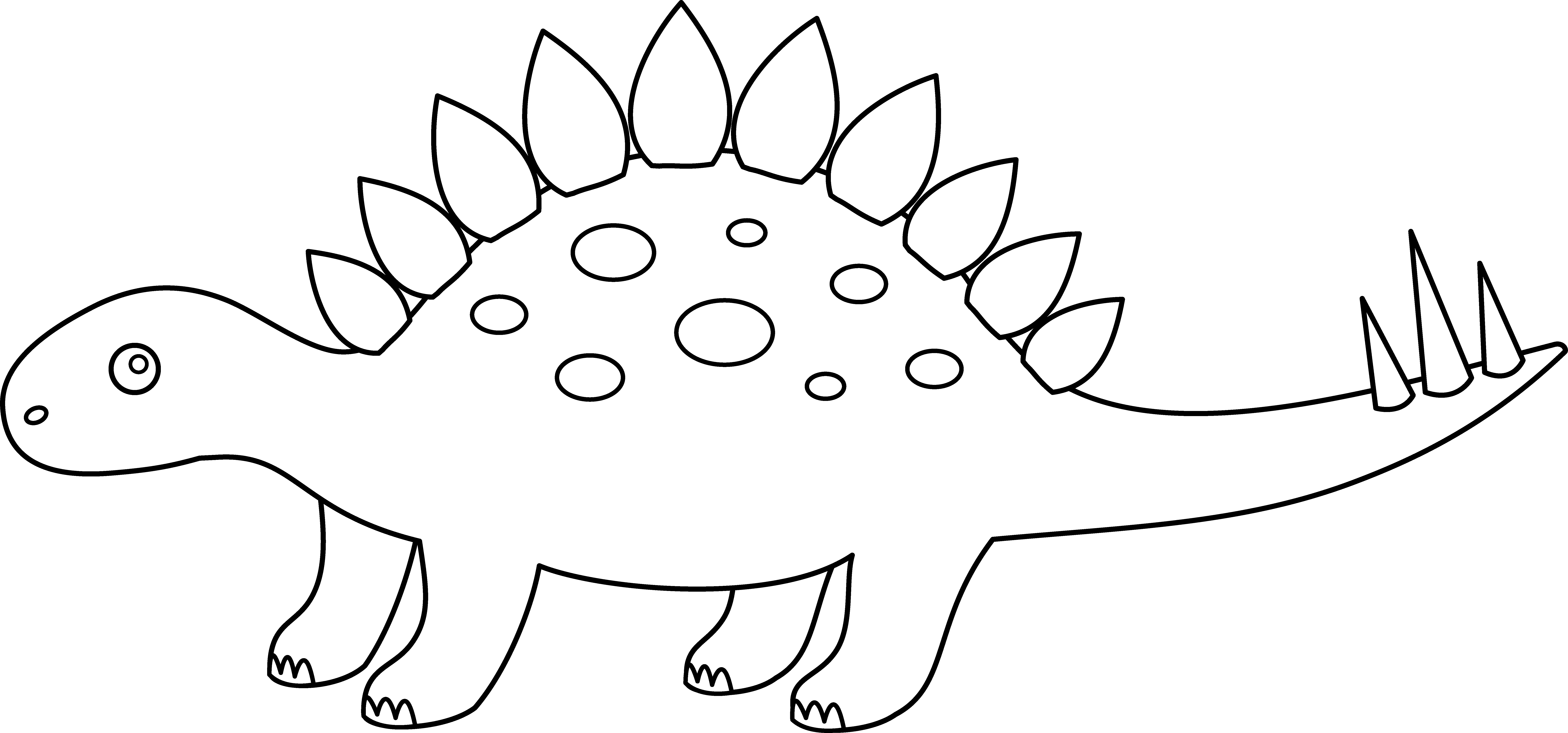 Stegosaurus vector dinosaur silhouette. Free outline download clip