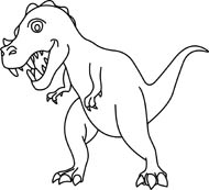 Dinosaur clipart outline. Free black and white
