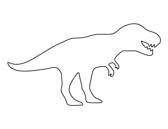 Dinosaur clipart outline. T rex pattern use