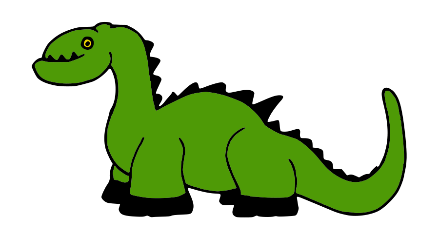 Stegosaurus vector green