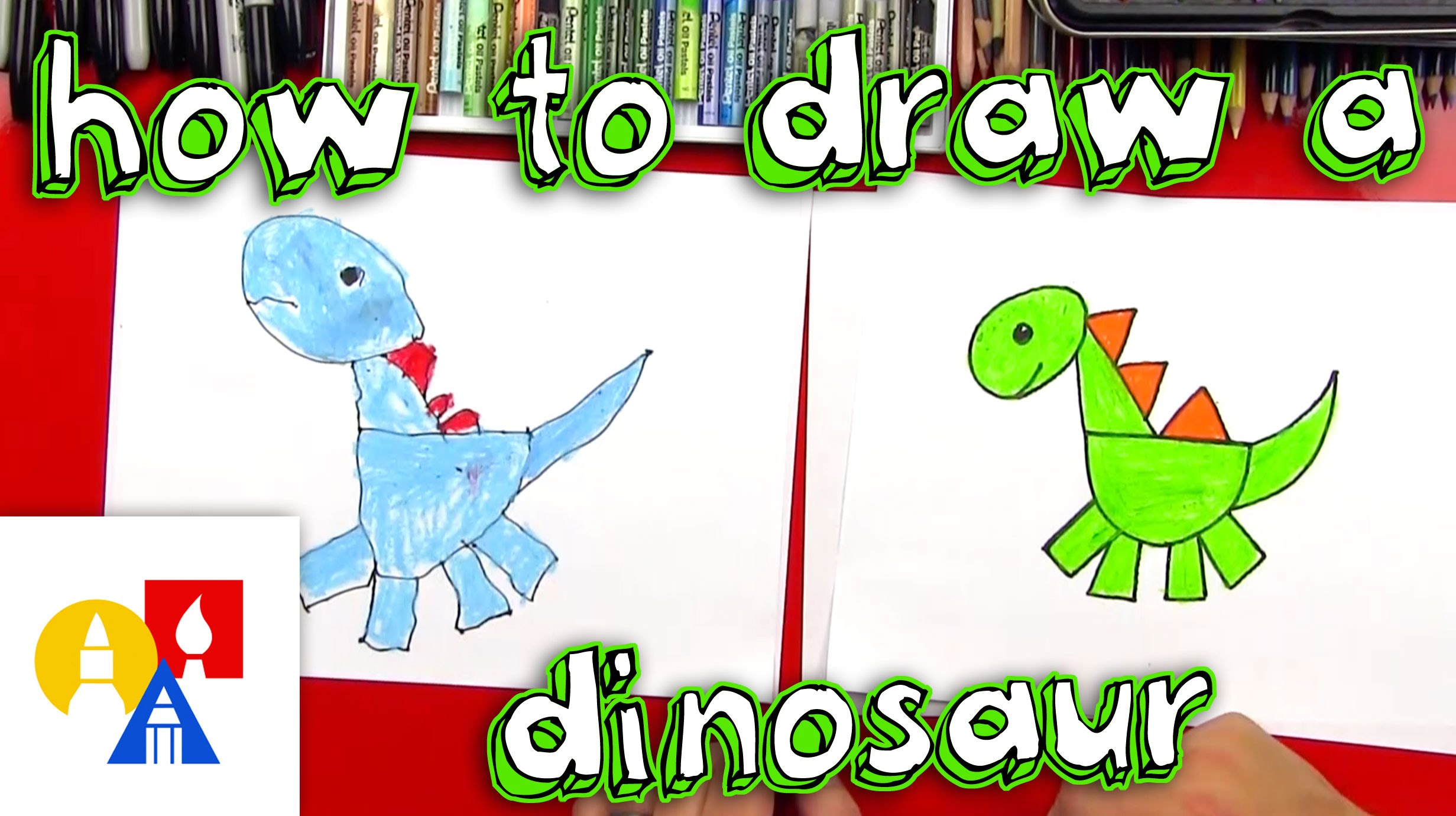 Dinosaur clipart shape. How to draw a