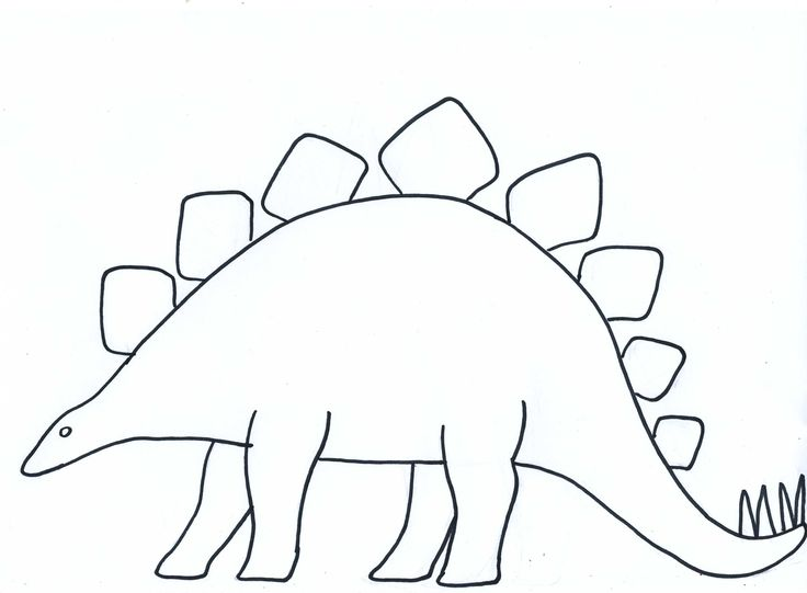 Dinosaur clipart shape. Blank template paper crafts