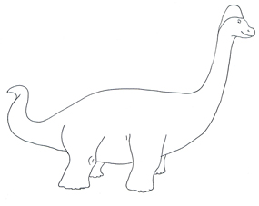 Dinosaur clipart simple. And jokes picture brachiosaurus