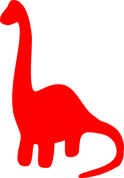 Dinosaur clipart simple. Red silhouette clip art