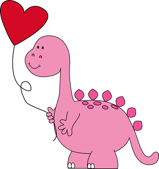 Pet clipart heart. Dinosaur valentines day