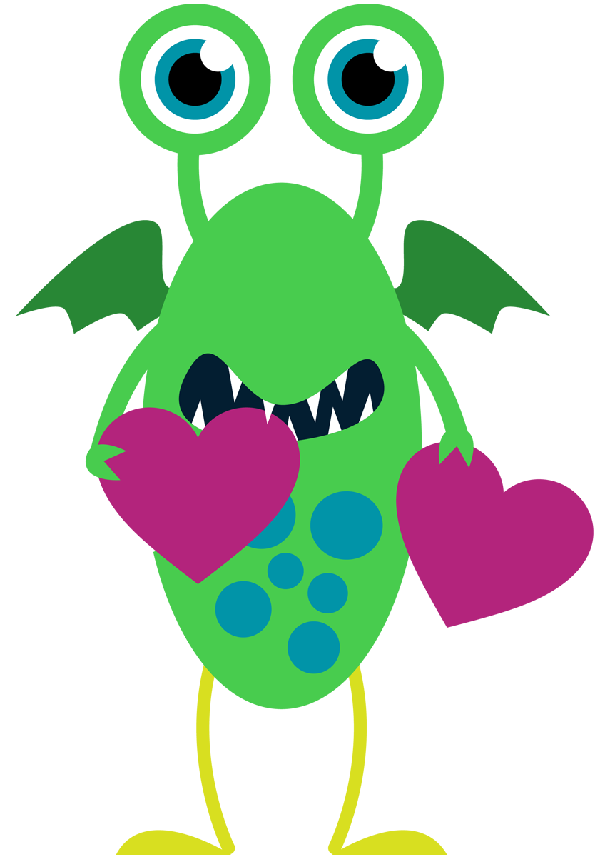 Valentine clipart monster. Love clip art library