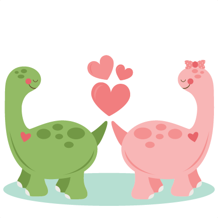 Dino svg cute. Dinosaurs in love scrapbook