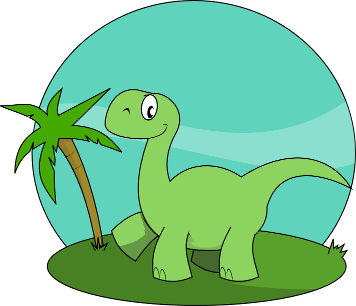 Dinosaurs clipart scene. Free cute dinosaur cartoon