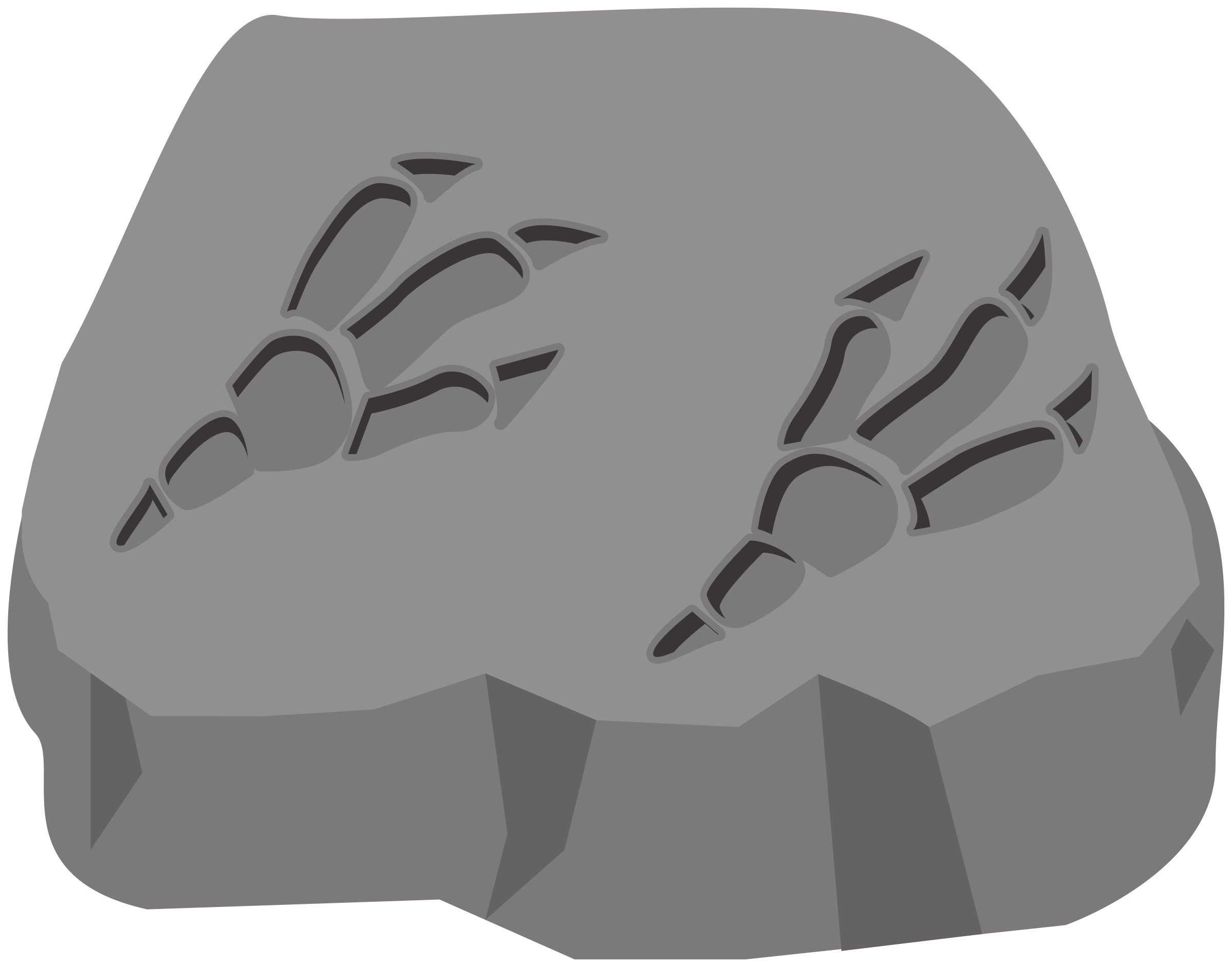 Dinosaur footprint png. Fossil icons free and