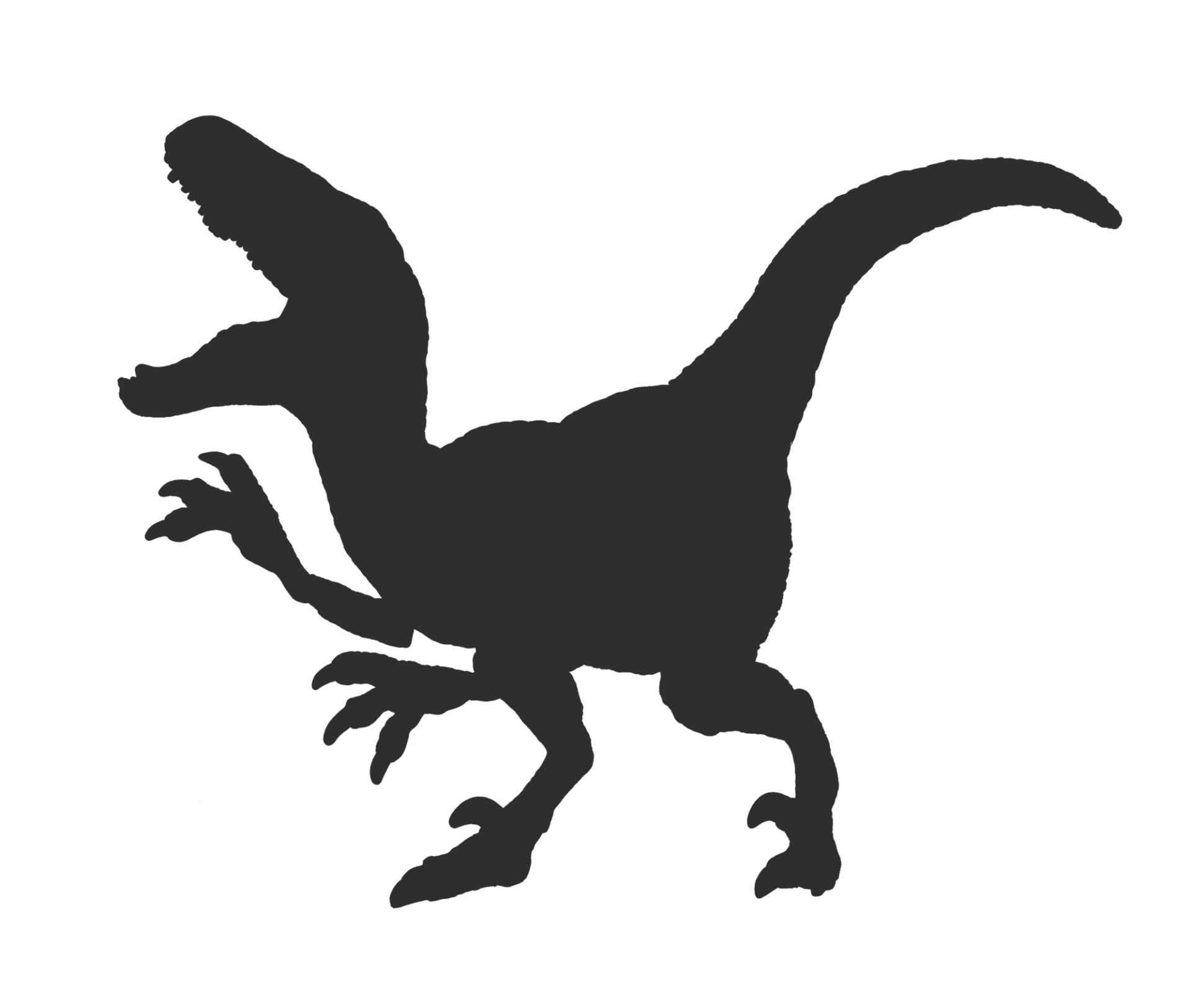 Velociraptor silhouette png. Dinosaur free download