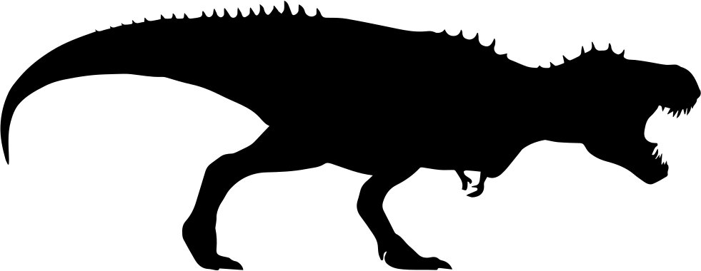 Dino svg black and white. Dinosaur silhouette at getdrawings