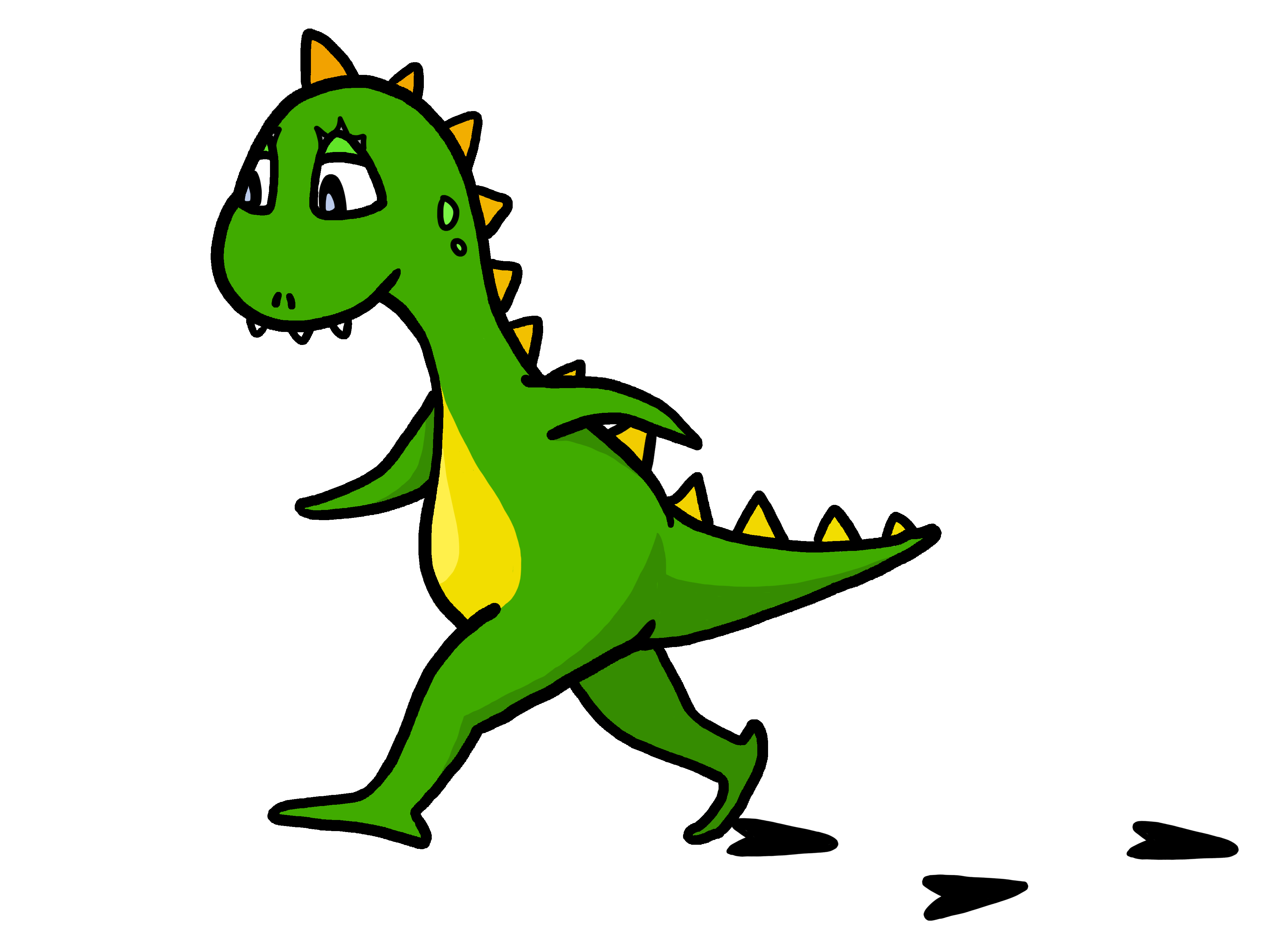 Dinosaurs clipart angry. Funny walking dinosaur free