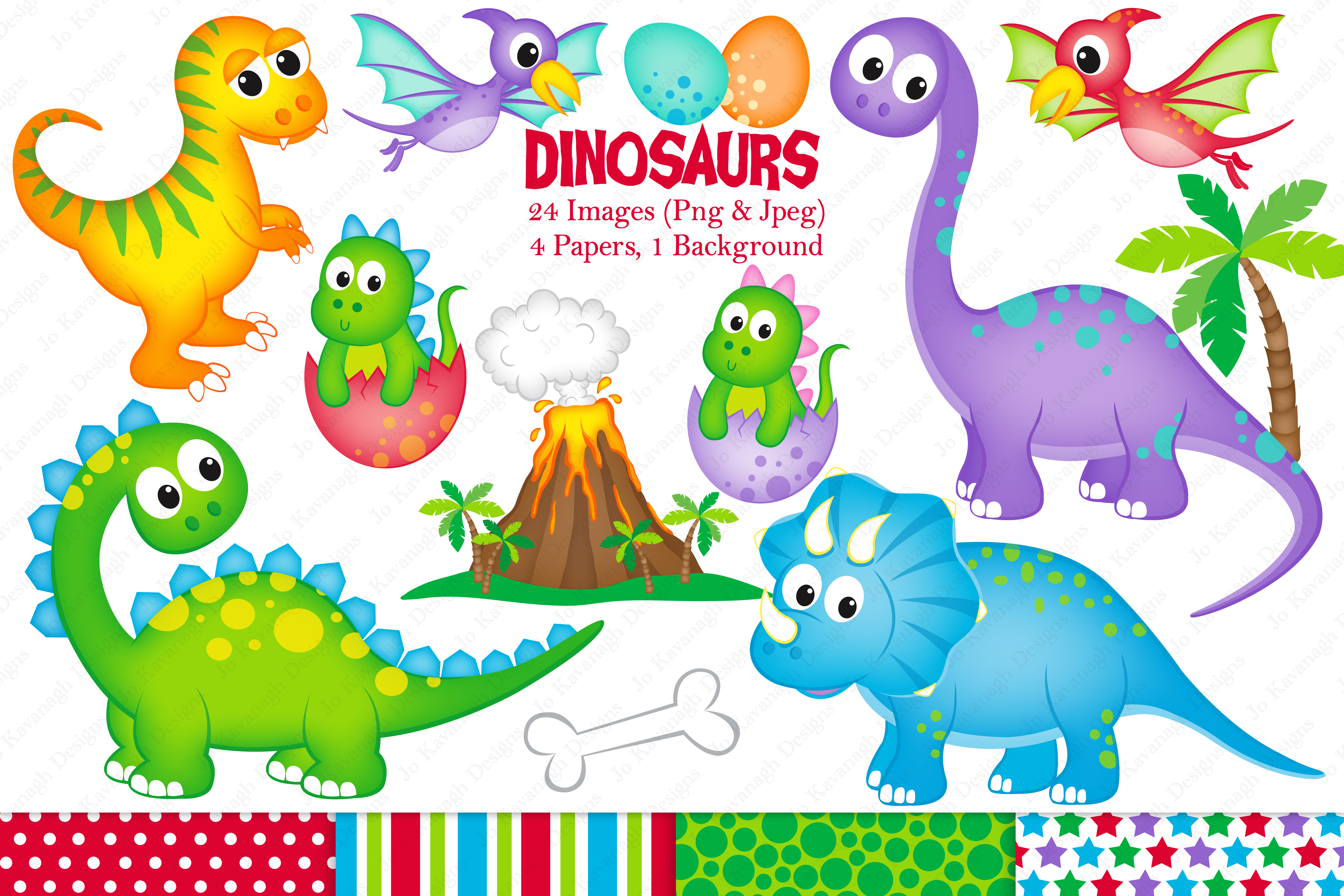 Dinosaurs clipart background. Graphics illustrations din design