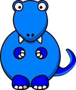 Dinosaurs clipart blue. Dinosaur rex page clipartcow