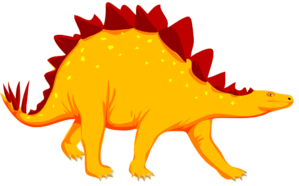 Dinosaurs clipart royalty free. Orange dinosaur clip art