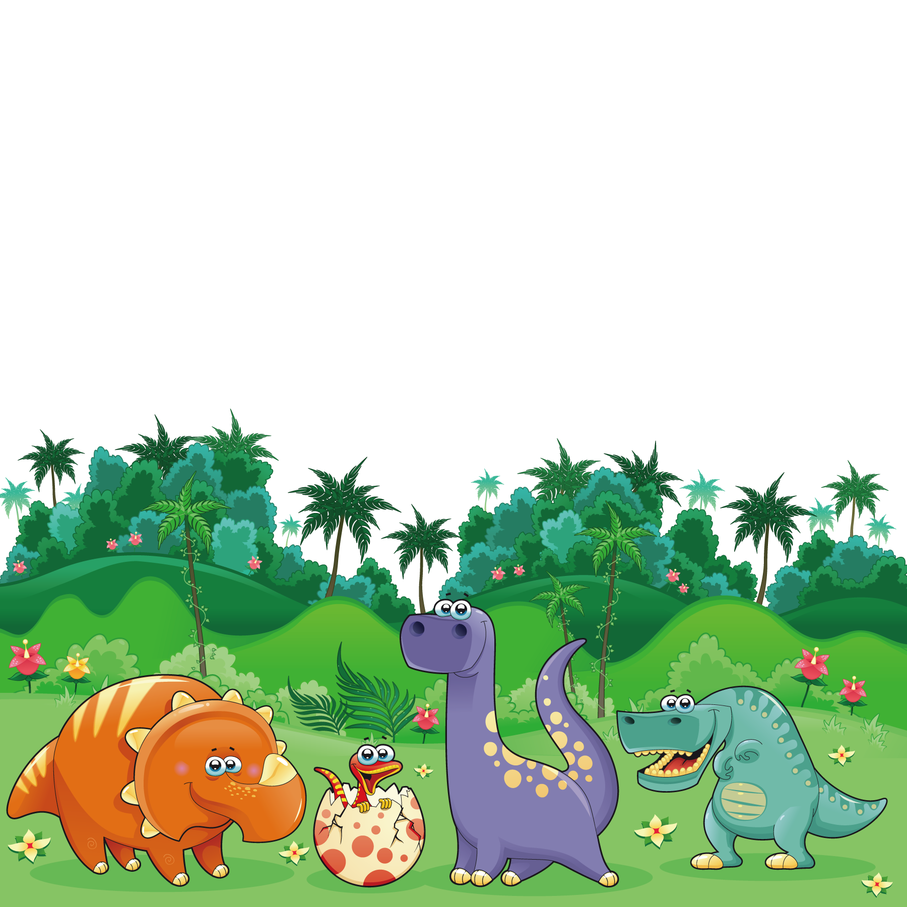 Dinosaurs clipart scene. Clip arts for free
