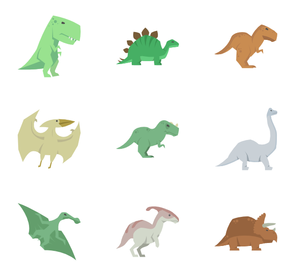 Dinosaurs svg. Dinosaur icon packs