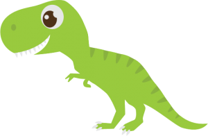 Dinosaurs svg banner. Paper of many colors