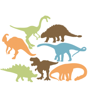 Dino svg cute. Dinosaur silhouette set my
