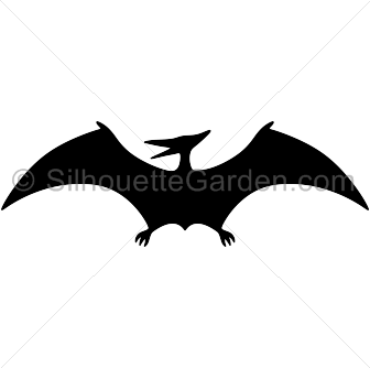Dinosaurs svg pterodactyl. Silhouette clip art download