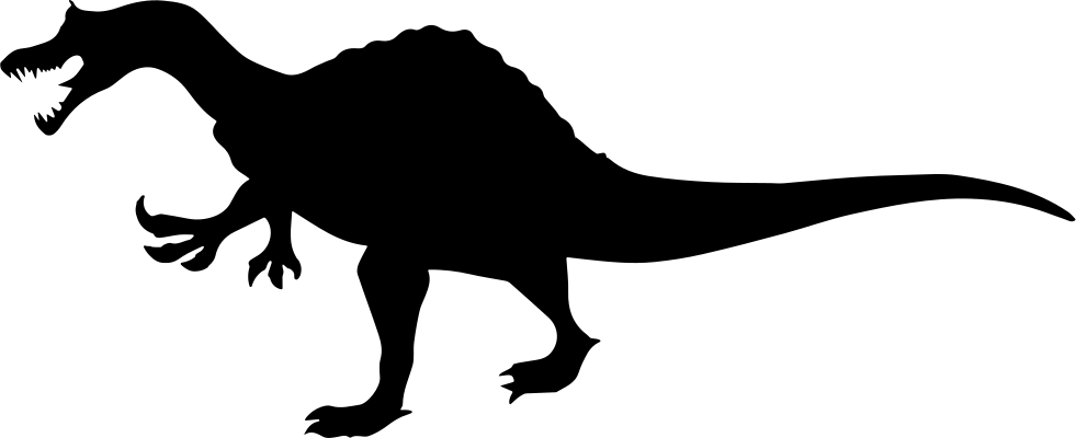 Dinosaurs svg three. Dinosaur shape of irritator
