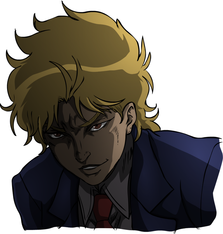 Dio hair png. Young brando by snake