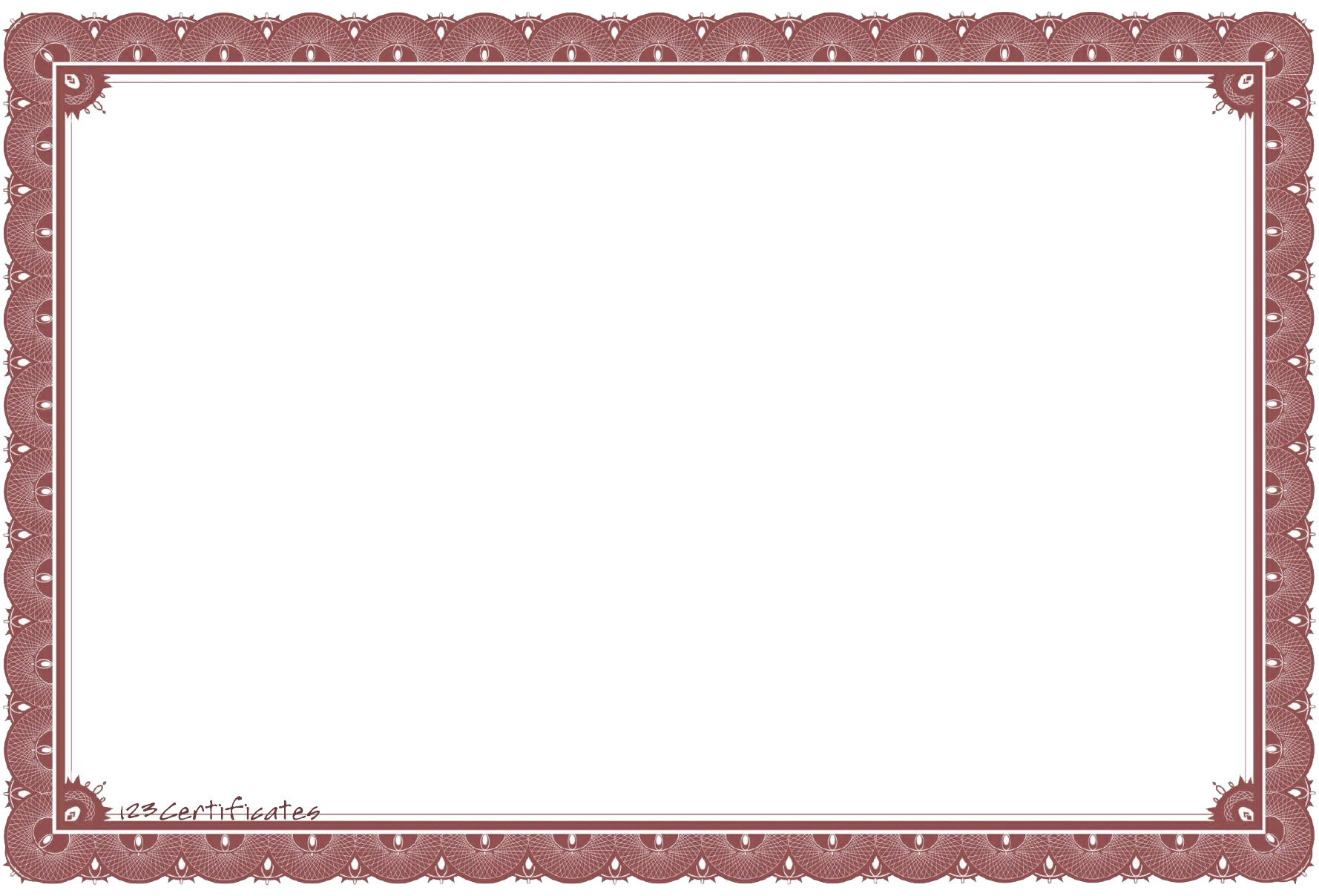 Transparent templates photo frame. Certificate template png images