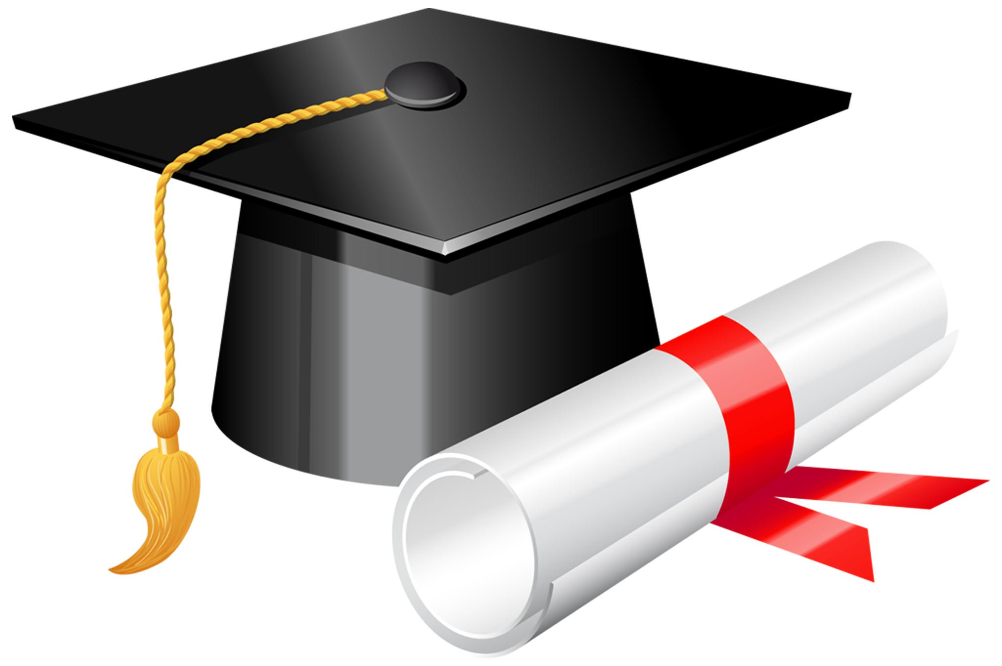 Diploma clipart. Graduation cap with png