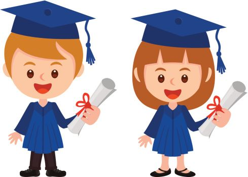 Graduation clipart boy. And girl gettyimages