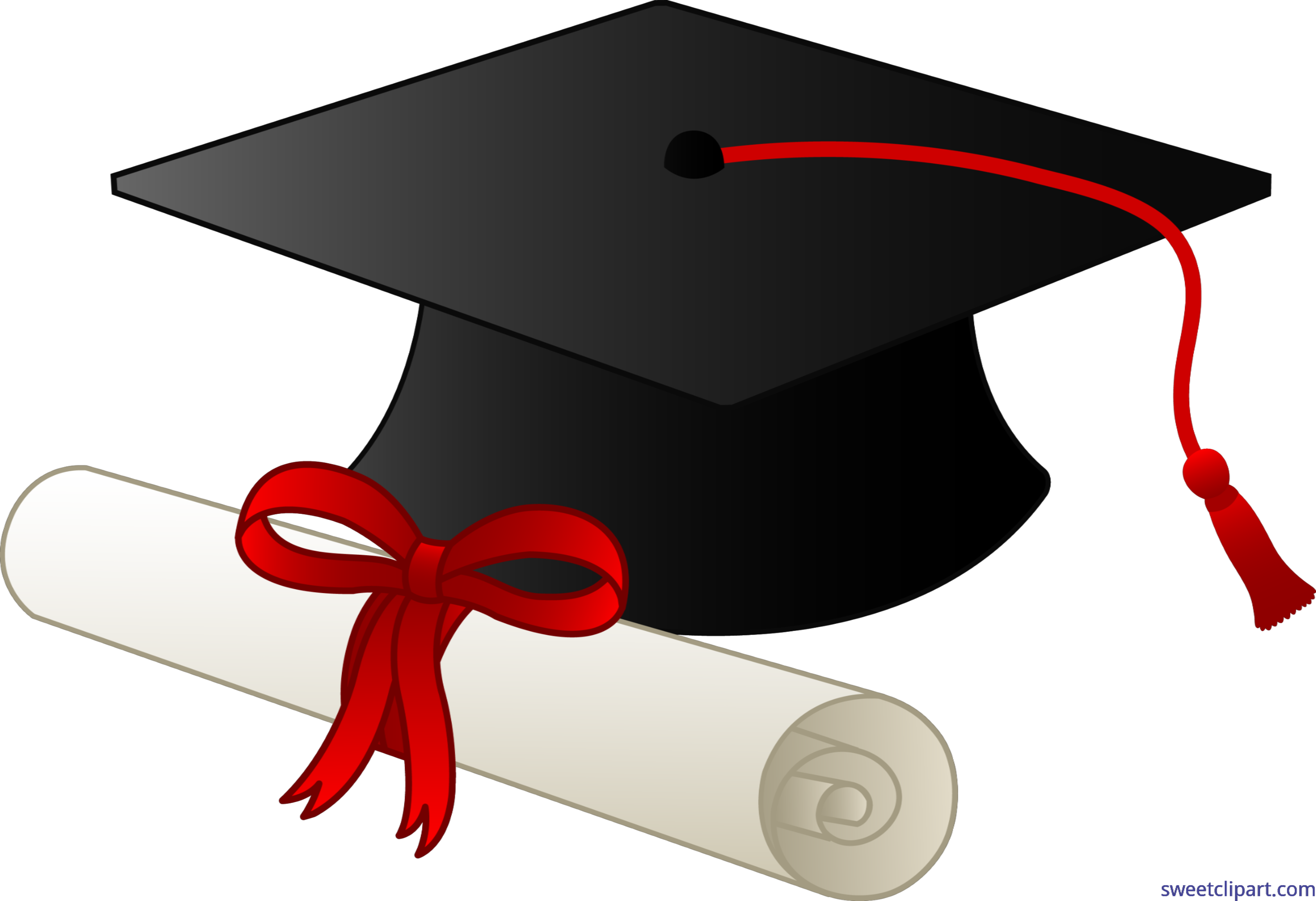 Diploma clipart college diploma. Graduation cap and clip