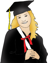 Diploma clipart girl graduate. Graduation free graphics image