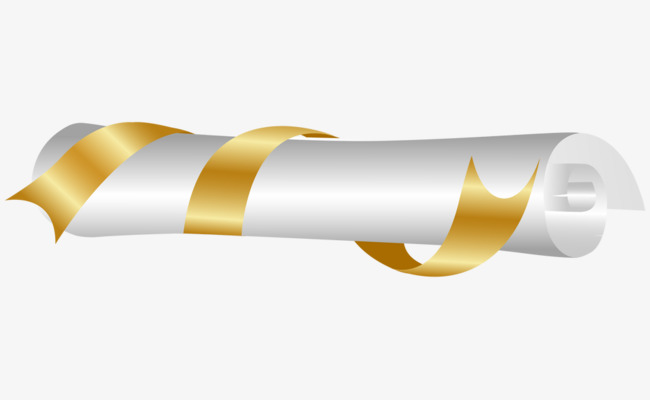 Yellow rolls png image. Diploma clipart gold ribbon png free download