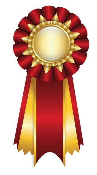 Diploma clipart gold ribbon. Red rosette png picture