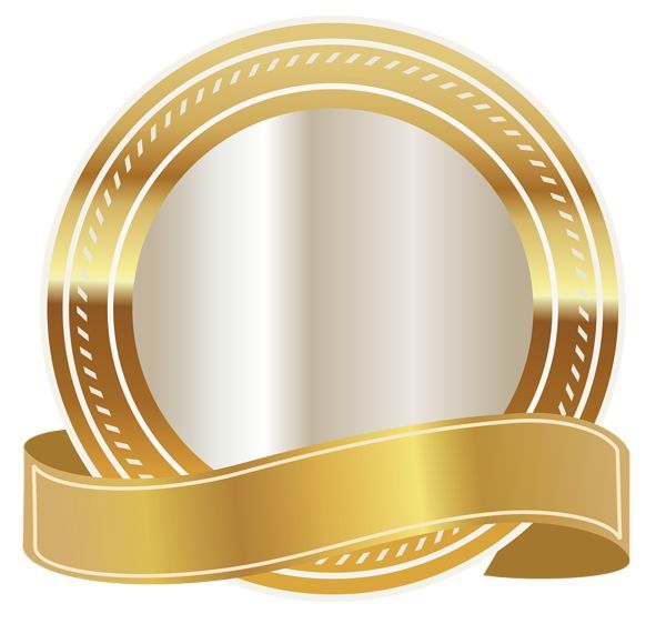 Seal with png image. Diploma clipart gold ribbon black and white stock