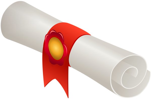 Diploma clipart png. Rolled transparent image gallery