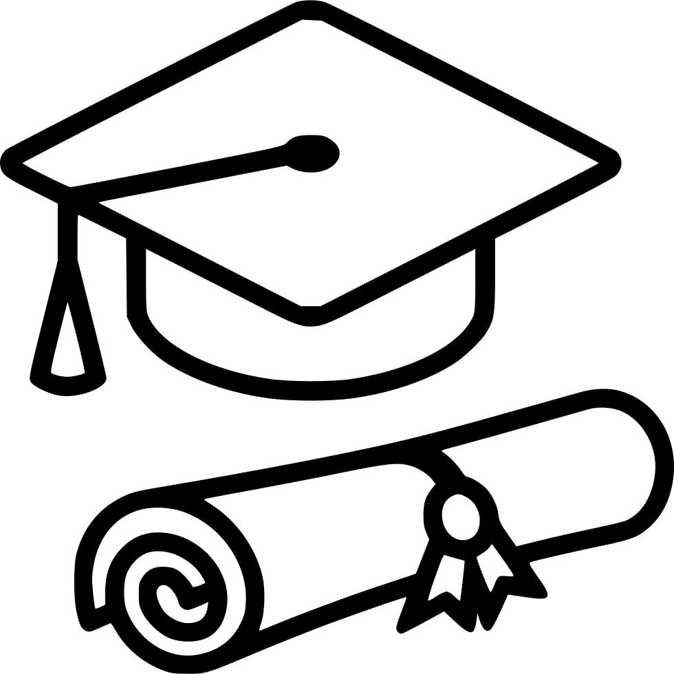 Diploma png. Graduation cap svg icon