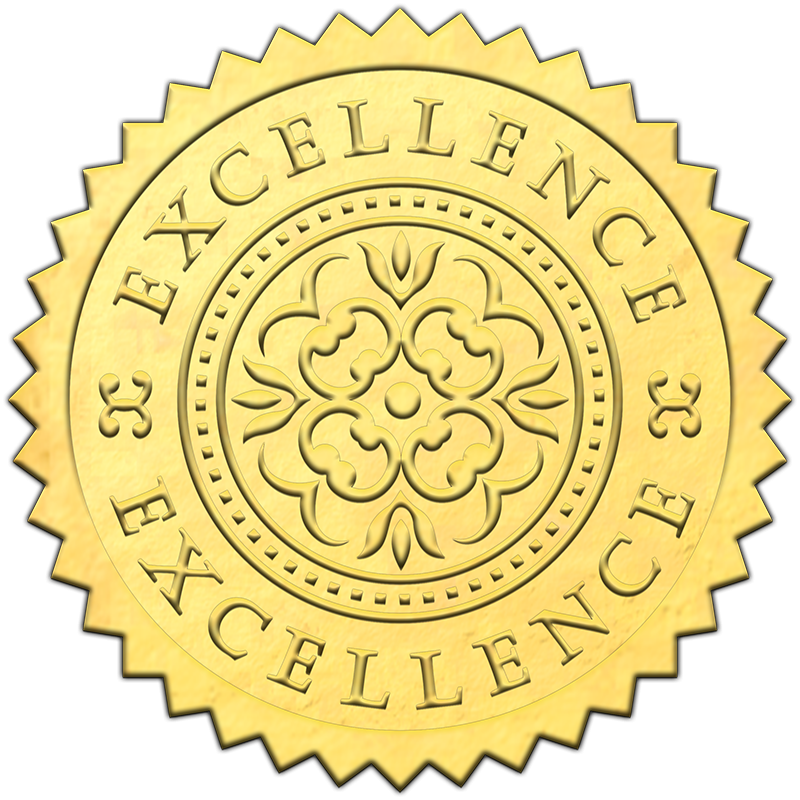 Certificate gold seal png. Excellence sticky business these