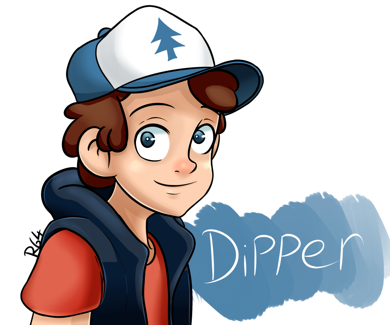 Dipper drawing. Pines by r art