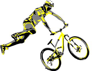 Vector bike bicycle rider. Mtb t shirt dirt