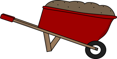 Dirt clipart wheelbarrow. Free red cliparts download
