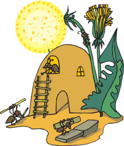 Dirt clipart hill. Ant house frames illustrations