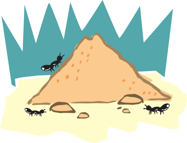 Dirt clipart hill. Ant clip art at