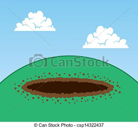Dirt clipart hill. Hole in