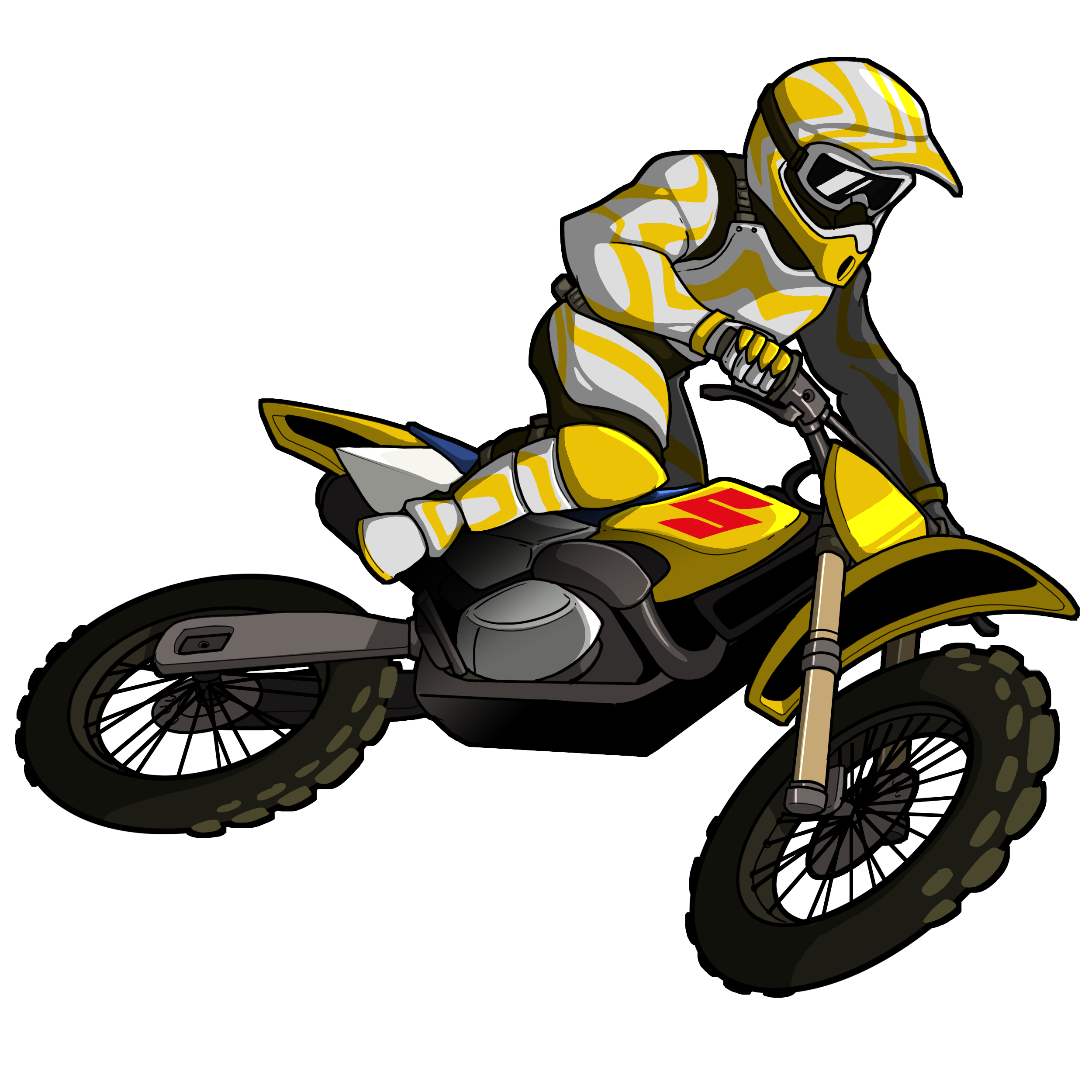 Dirtbike vector. Free motocross icon download