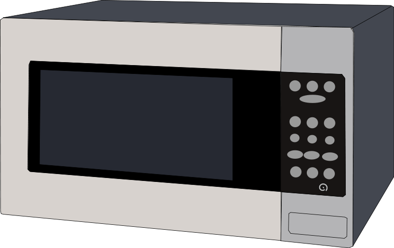 Dirty clipart microwave. Oven retro kitchen food