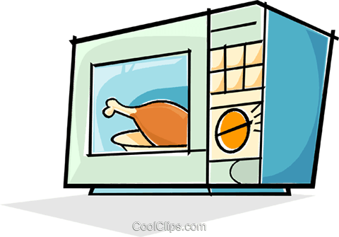 microwave clipart heating