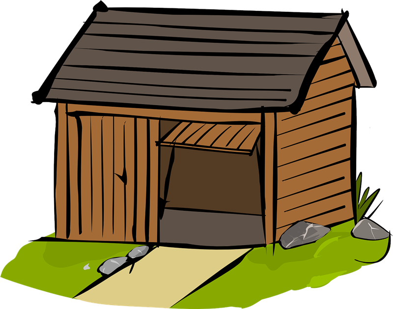 Shack vector old home. Free garage cliparts download