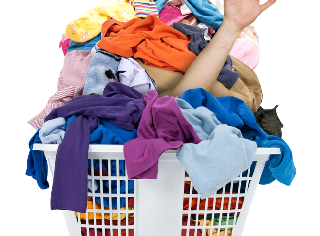 Dirty clothes png. Laundry day separates the